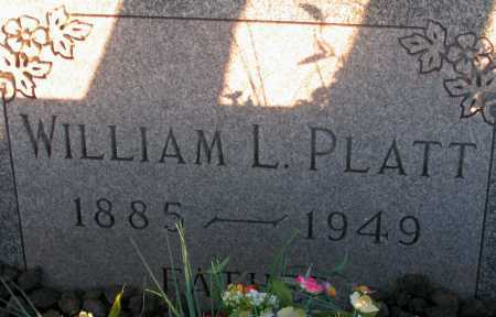 PLATT, WILLIAM L. - Apache County, Arizona | WILLIAM L. PLATT - Arizona Gravestone Photos