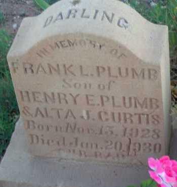 PLUMB, FRANK - Apache County, Arizona | FRANK PLUMB - Arizona Gravestone Photos