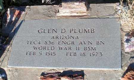 PLUMB, GLEN D. - Apache County, Arizona | GLEN D. PLUMB - Arizona Gravestone Photos
