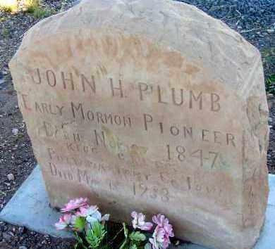 PLUMB, JOHN H. - Apache County, Arizona | JOHN H. PLUMB - Arizona Gravestone Photos