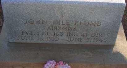PLUMB, JOHN NILE - Apache County, Arizona | JOHN NILE PLUMB - Arizona Gravestone Photos