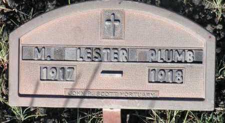 PLUMB, M. LESTER - Apache County, Arizona | M. LESTER PLUMB - Arizona Gravestone Photos