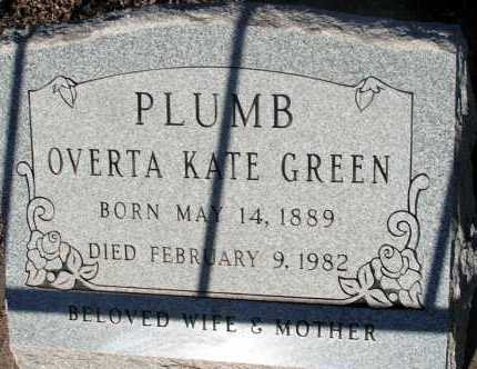 GREEN PLUMB, OVERTA KATE - Apache County, Arizona | OVERTA KATE GREEN PLUMB - Arizona Gravestone Photos