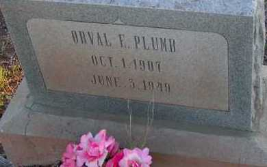 PLUMB, ORVAL F. - Apache County, Arizona   ORVAL F. PLUMB - Arizona Gravestone Photos