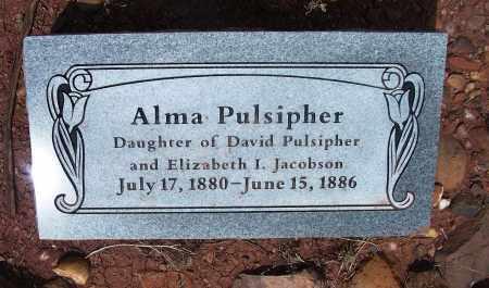 PULSIPHER, ALMA - Apache County, Arizona   ALMA PULSIPHER - Arizona Gravestone Photos