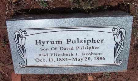 PULSIPHER, HYRUM - Apache County, Arizona | HYRUM PULSIPHER - Arizona Gravestone Photos