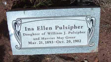 PULSIPHER, INA ELLEN - Apache County, Arizona | INA ELLEN PULSIPHER - Arizona Gravestone Photos