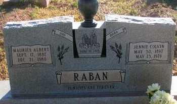 COLVIN RABAN, JENNIE - Apache County, Arizona | JENNIE COLVIN RABAN - Arizona Gravestone Photos