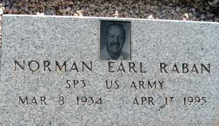 RABAN, NORMAN EARL - Apache County, Arizona | NORMAN EARL RABAN - Arizona Gravestone Photos