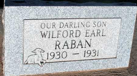RABAN, WILFORD EARL - Apache County, Arizona   WILFORD EARL RABAN - Arizona Gravestone Photos