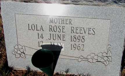 REEVES, LOLA ROSE - Apache County, Arizona | LOLA ROSE REEVES - Arizona Gravestone Photos