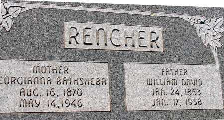 RENCHER, GEORGIANNA BATHSHEBA - Apache County, Arizona | GEORGIANNA BATHSHEBA RENCHER - Arizona Gravestone Photos