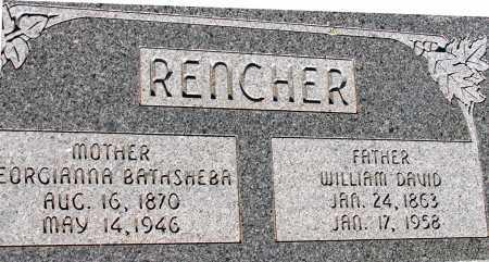 RENCHER, WILLIAM DAVID - Apache County, Arizona | WILLIAM DAVID RENCHER - Arizona Gravestone Photos