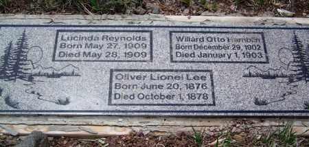 LEE, OLIVER LIONEL - Apache County, Arizona | OLIVER LIONEL LEE - Arizona Gravestone Photos