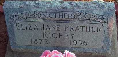 PRATHER RICHEY, ELIZA JANE - Apache County, Arizona | ELIZA JANE PRATHER RICHEY - Arizona Gravestone Photos