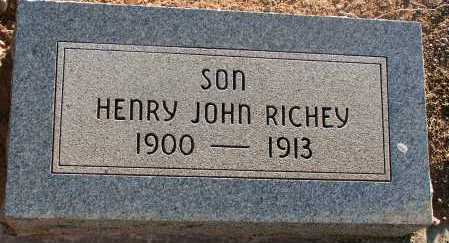 RICHEY, HENRY JOHN - Apache County, Arizona | HENRY JOHN RICHEY - Arizona Gravestone Photos