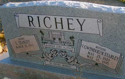 STARLEY RICHEY, V. GWENDOLYN - Apache County, Arizona | V. GWENDOLYN STARLEY RICHEY - Arizona Gravestone Photos