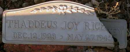 RICHEY, THADDEUS JOY - Apache County, Arizona   THADDEUS JOY RICHEY - Arizona Gravestone Photos