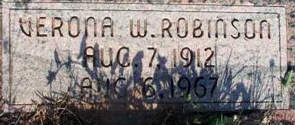 ROBINSON, VERONA W. - Apache County, Arizona | VERONA W. ROBINSON - Arizona Gravestone Photos
