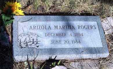 ROGERS, ARIZOLA MARTHA - Apache County, Arizona | ARIZOLA MARTHA ROGERS - Arizona Gravestone Photos