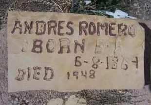 ROMERO, ANDRES - Apache County, Arizona | ANDRES ROMERO - Arizona Gravestone Photos
