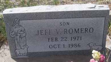 ROMERO, JEFF V - Apache County, Arizona | JEFF V ROMERO - Arizona Gravestone Photos