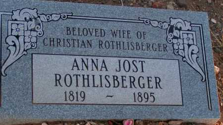 ROTHLISBERGER, ANNA JOST - Apache County, Arizona | ANNA JOST ROTHLISBERGER - Arizona Gravestone Photos