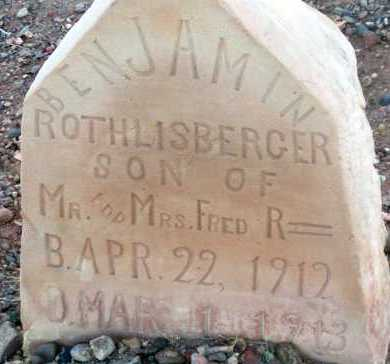 ROTHLISBERGER, BENJAMIN - Apache County, Arizona | BENJAMIN ROTHLISBERGER - Arizona Gravestone Photos