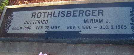 ROTHLISBERGER, MIRIAM J. - Apache County, Arizona | MIRIAM J. ROTHLISBERGER - Arizona Gravestone Photos