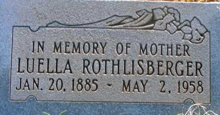 ROTHLISBERGER, LUELLA - Apache County, Arizona | LUELLA ROTHLISBERGER - Arizona Gravestone Photos