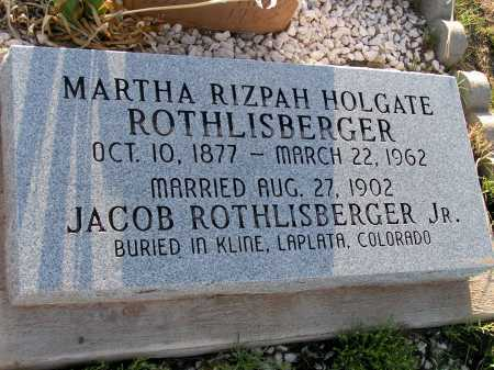 HOLGATE ROTHLISBERGER, MARTHA - Apache County, Arizona | MARTHA HOLGATE ROTHLISBERGER - Arizona Gravestone Photos