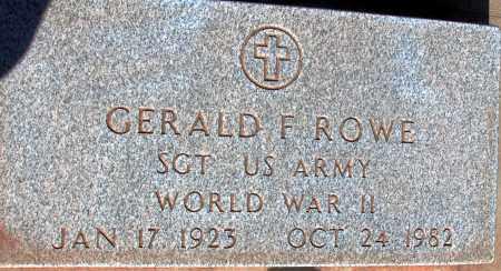 ROWE, GERALD F. - Apache County, Arizona | GERALD F. ROWE - Arizona Gravestone Photos