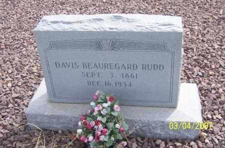 RUDD, DAVIS BEAUREGARD - Apache County, Arizona | DAVIS BEAUREGARD RUDD - Arizona Gravestone Photos