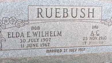 RUEBUSH, A.C. - Apache County, Arizona | A.C. RUEBUSH - Arizona Gravestone Photos