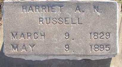 RUSSELL, HARRIET A.N. - Apache County, Arizona | HARRIET A.N. RUSSELL - Arizona Gravestone Photos