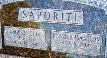 ISAACSON SAPORITI, FERNITH - Apache County, Arizona   FERNITH ISAACSON SAPORITI - Arizona Gravestone Photos