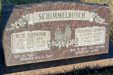 SHERWOOD SCHIMMELBUSCH, RUTH - Apache County, Arizona | RUTH SHERWOOD SCHIMMELBUSCH - Arizona Gravestone Photos