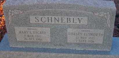 HIGBEE SCHNEBLY, MARY L. - Apache County, Arizona | MARY L. HIGBEE SCHNEBLY - Arizona Gravestone Photos