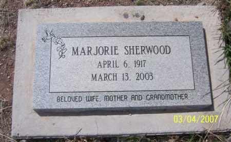 SHERWOOD, MARJORIE - Apache County, Arizona   MARJORIE SHERWOOD - Arizona Gravestone Photos