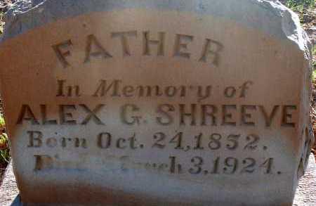 SHREEVE, ALEX G. - Apache County, Arizona | ALEX G. SHREEVE - Arizona Gravestone Photos