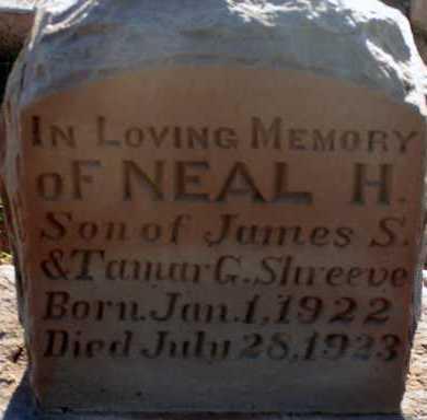 SHREEVE, NEAL H. - Apache County, Arizona | NEAL H. SHREEVE - Arizona Gravestone Photos