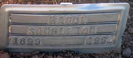 SINGLETON, MAUDE - Apache County, Arizona | MAUDE SINGLETON - Arizona Gravestone Photos
