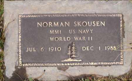 SKOUSEN, NORMAN - Apache County, Arizona | NORMAN SKOUSEN - Arizona Gravestone Photos