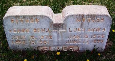SLADE, LUCY MYRA - Apache County, Arizona | LUCY MYRA SLADE - Arizona Gravestone Photos