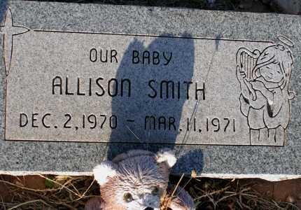 SMITH, ALLISON - Apache County, Arizona | ALLISON SMITH - Arizona Gravestone Photos