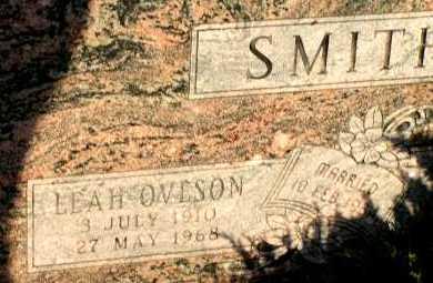 OVERSON SMITH, LEAH - Apache County, Arizona | LEAH OVERSON SMITH - Arizona Gravestone Photos