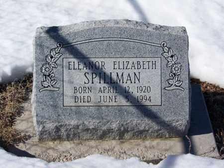 SPILLMAN, ELEANOR ELIZABETH - Apache County, Arizona | ELEANOR ELIZABETH SPILLMAN - Arizona Gravestone Photos