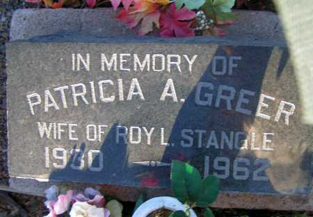 GREER STANGLE, PATRICIA A. - Apache County, Arizona | PATRICIA A. GREER STANGLE - Arizona Gravestone Photos