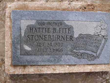 STONEBURNER, HATTIE B. - Apache County, Arizona | HATTIE B. STONEBURNER - Arizona Gravestone Photos