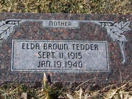 TEDDER, ELDA - Apache County, Arizona | ELDA TEDDER - Arizona Gravestone Photos